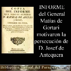 INFORME DEL GENERAL D. MATHIAS DE ANGLES Y GORTARI
