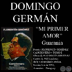 MI PRIMER AMOR (Guarania, letra de DOMINGO GERMÁN)