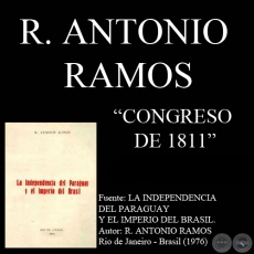 CONGRESO DE 1811 - Documento de R. ANTONIO RAMOS