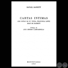 CARTAS ÍNTIMAS (RAFAEL BARRETT)