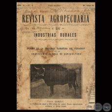 1930 - N° 18 - REVISTA AGROPECUARIA Y DE INDUSTRIAS RURALES - Director GUILLERMO TELL BERTONI