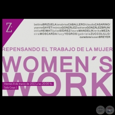 WOMEN'S WORK, 2013 - Exposición colectida de BETTINA BRIZUELA