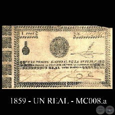1859 - UN REAL - MC008.a - FIRMAS: MIGUEL BERGES – DOMINGO ARZA