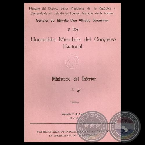 Portal guaran ministerio del interior 1968 mensaje for Ministerio del interior nacion