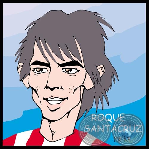 Resultado de imagen para caricatura DE ROQUE SANTA CRUZ