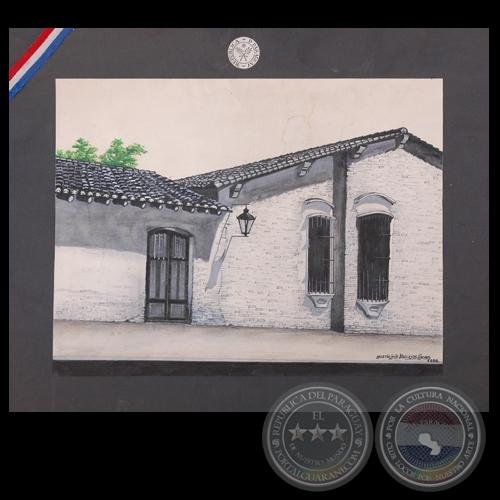 CASA DE LA INDEPENDENCIA, 1986 - Dibujo de MARTÍN VALLEJOS